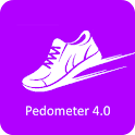 pedometer calorie step count icon