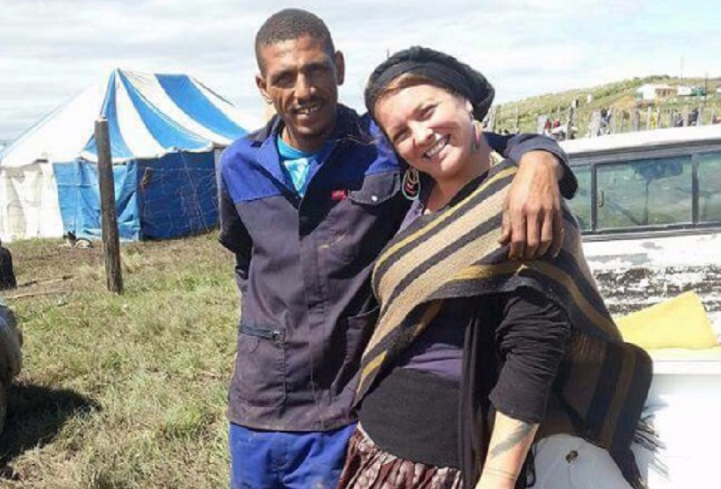 Sarah Beth McAdam and her husband Nhaza Ndevu. Picture: BACKABUDDY