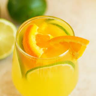 Healthy Orange Lime Refresher.