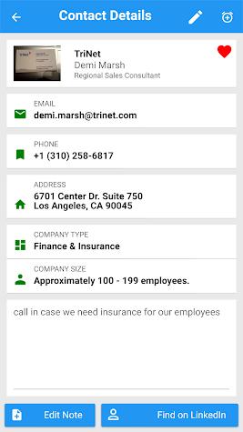My Business Contacts App Screenshot