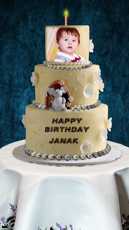 Birthday Cake With Name Hassan ~ Name photo on birthday cake android apps google play