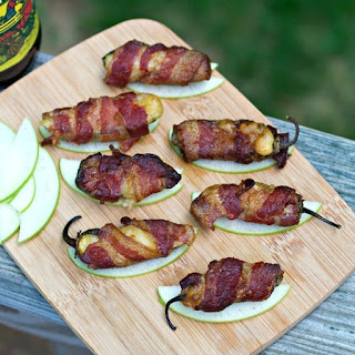 Smoked Jalapeño Poppers with Bacon + Apple +Brie.