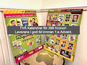 Dubbelpack!! Två stycken Adventskalender Nordic Edition Panini Adrenalyn XL FIFA 365 2020-2021