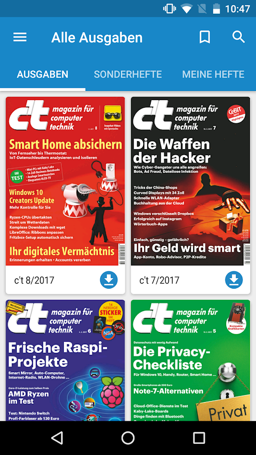 c't Magazin – Screenshot