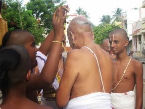 Photo: Srirangam Archakar swamy given honours