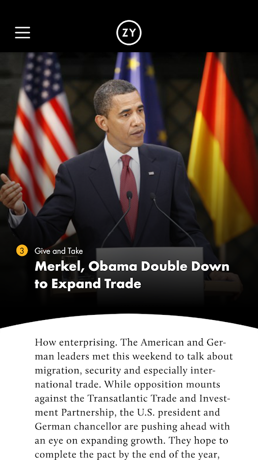 OZY's Presidential Daily Brief- screenshot