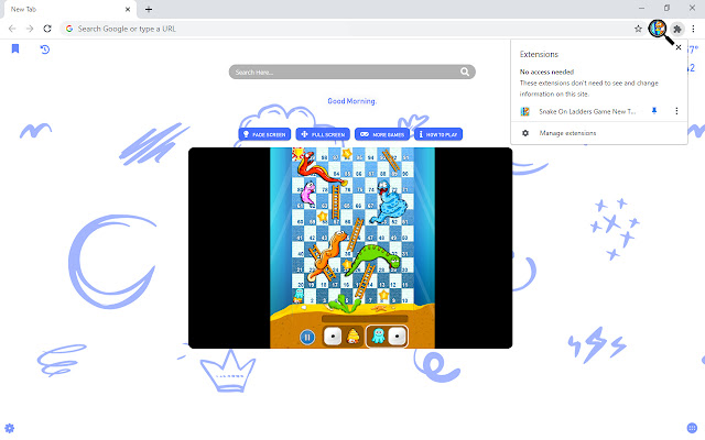 Snake On Ladders Game New Tab
