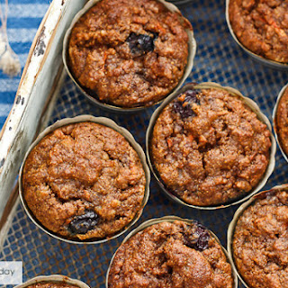Blueberry-Carrot Cake Muffins [Grain-Free]
