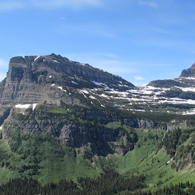 Glaier National Park and her Majesty by Denise Parker - Landscapes Mountains & Hills ( mountains,  )