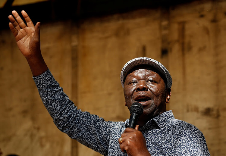 The late Zimbabwean opposition leader, Morgan Tsvangirai, pictured in Harare, Zimbabwe, in November 2017. Picture: REUTERS