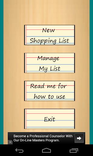 Kids Shopping List
