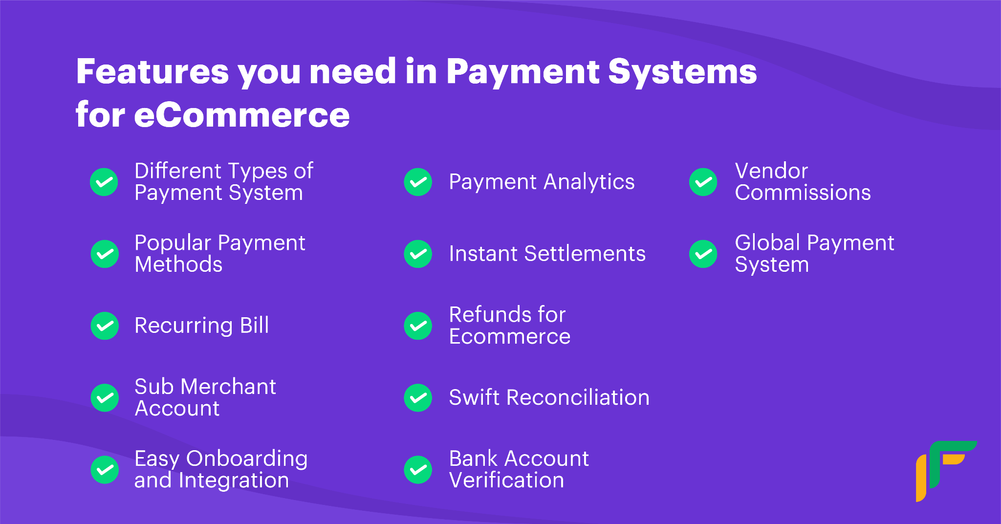 payments systems for eCommerce features