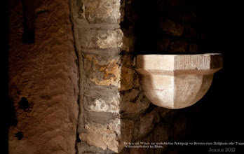Photo: holy water font