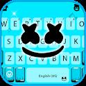 Blue Dj Man Keyboard Theme icon