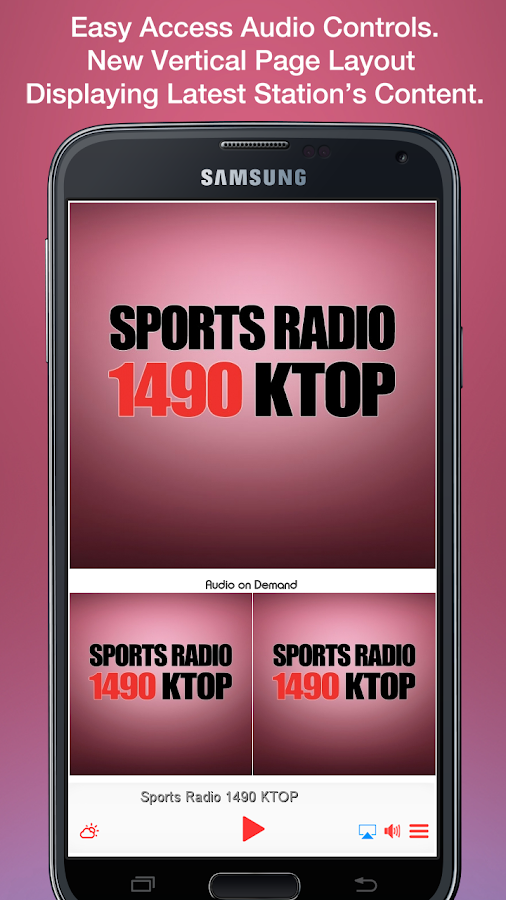 Sports Radio 1490 KTOP- screenshot