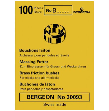FODRINGAR I MÄSSING - 100-PACK BERGEON 30093