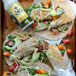 Healthy Baked Ranch Chicken Wraps.