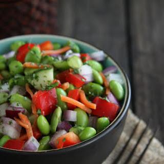Edamame Salad with Ginger Vinaigrette
