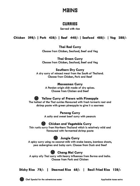 Siam Trading Company menu 2