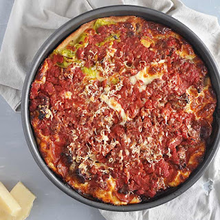 Chicago Deep Dish Meat Lover Pizza.