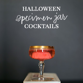Specimen Jar Halloween Cocktails