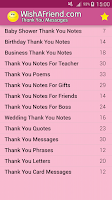 Screenshot of Thank You Messages