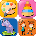 Educational intelligence games for 2-8 aged icon