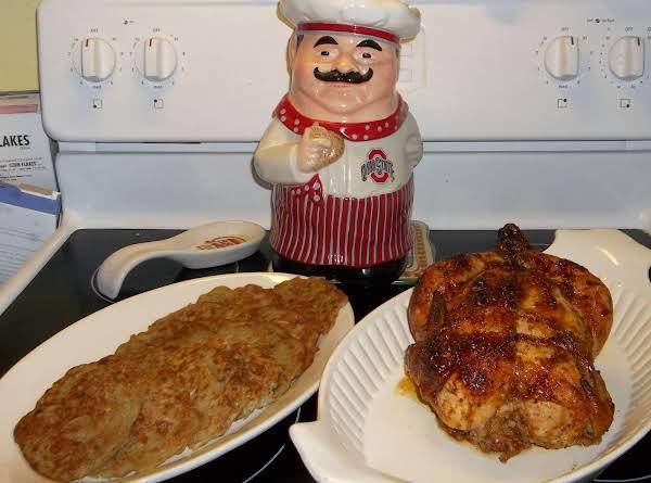 Chicken With Sundried Tomato Pesto And Potato Pancakes. Mmmmmmmmmm !!! Made 11/18/2012.