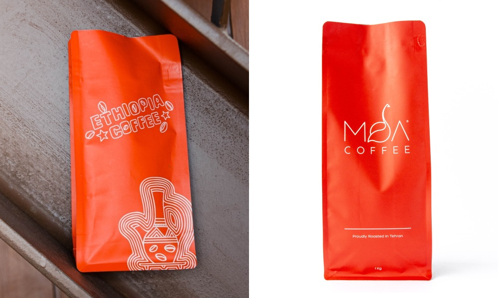 red coffee bag colours