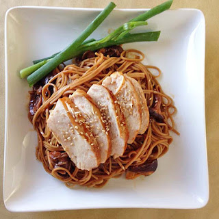 Chicken Teriyaki with Soba Noodles.