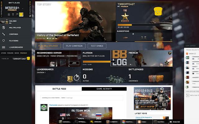 Battlelog 2.0 Theme
