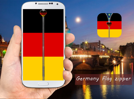 Germany Flag Zipper