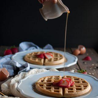 Oat Flour Waffles.