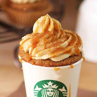 'Pumpkin Spice' Latte Cupcakes with Caramel.