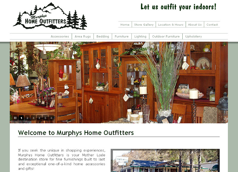 Photo: Murphys Home Outfitters Black Oak Casino Web Design and Development