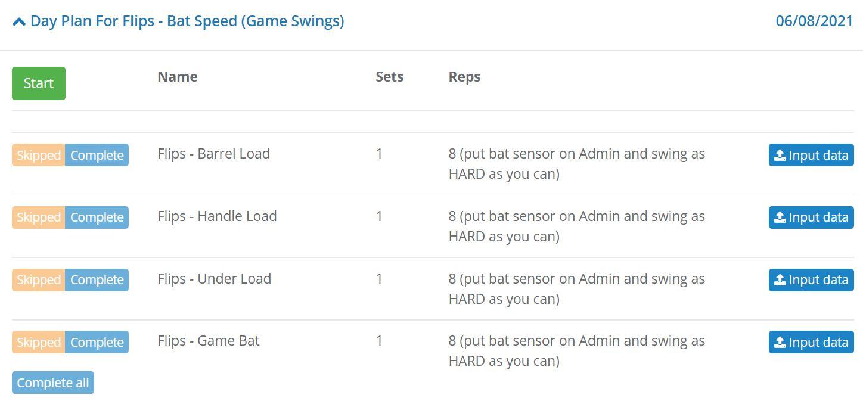 bat speed training