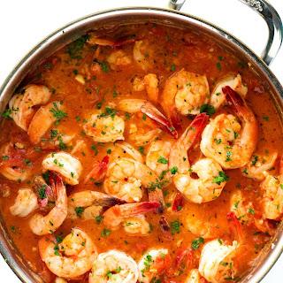 20 Minute Italian Garlic Butter Shrimp.