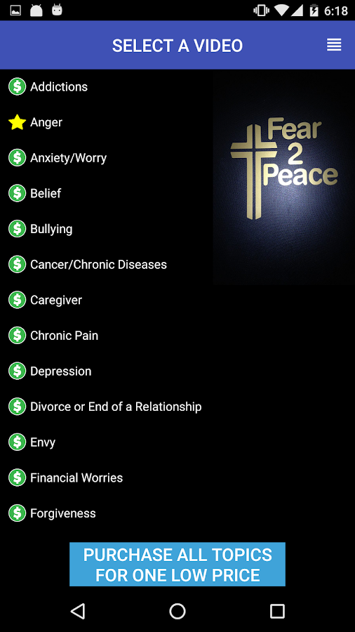 Fear2Peace - The Christian Mobile App- screenshot