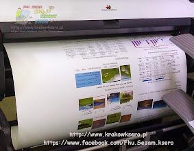 Photo: Plakat wielkoformatowy B1 - POSTER. Wydruk na papierze matowym 180g/m. Usługa realizowana na poczekaniu.