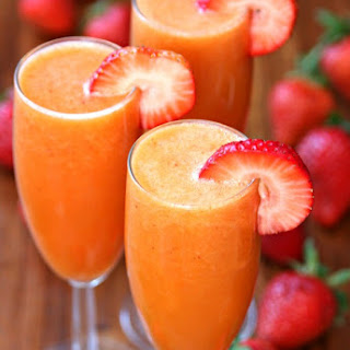 Strawberry Mango Mimosas.