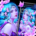 Pink Butterfly Fairy Theme icon