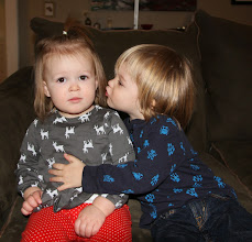 """Photo: 12/22 - I told Gibby, """"Give Cousin Birdie a kiss!"""" I don't think she was entirely on board with that."""