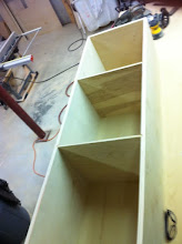 Photo: The last of three cabinets I custom made for the laundry room remodel