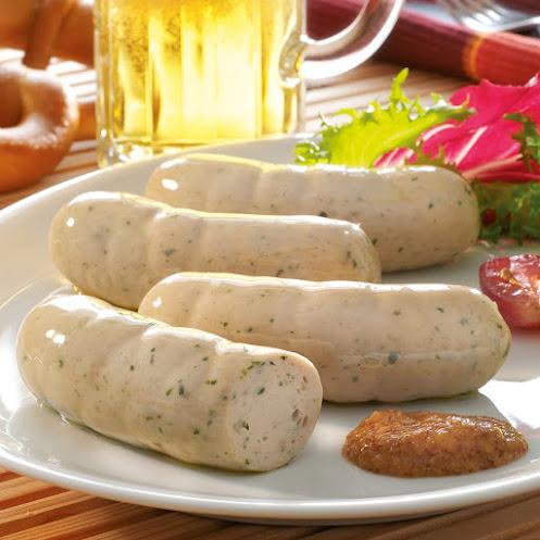 Abbildung Weißwurst mit Senf