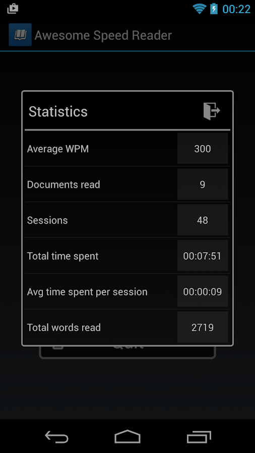 Awesome Speed Reader- screenshot