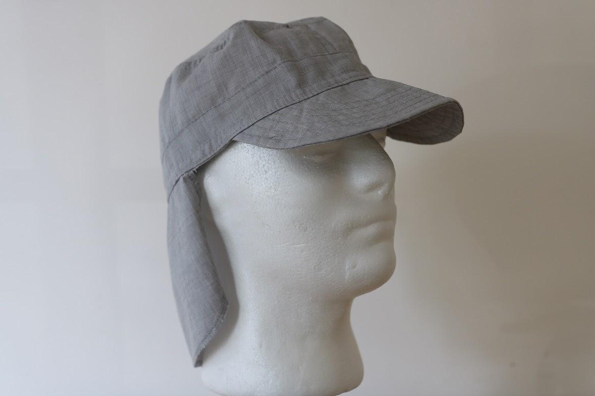 כובע פטרול ליגיונר מבד חוסם קרינה בצבע לבן-אפור