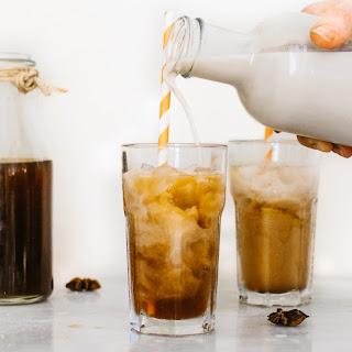 A Homemade Iced Chai Tea Latte