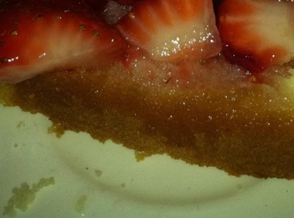 Spoon some strawberries and juice over the pound cake.***  At this point decide...