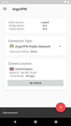 Argo VPN screenshot 1