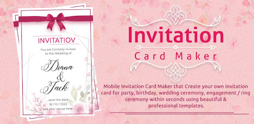 Invitation Card Maker B Day Wedding Invitation праграмы